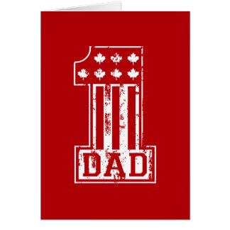 No. 1 Dad Canada Card