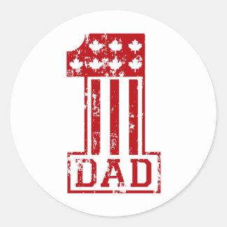 No. 1 Dad Canada Classic Round Sticker