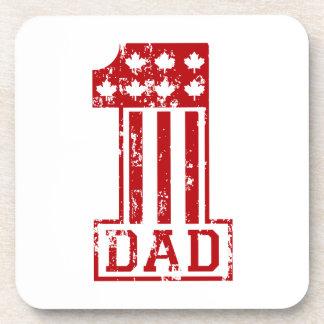 No. 1 Dad Canada Drink Coaster