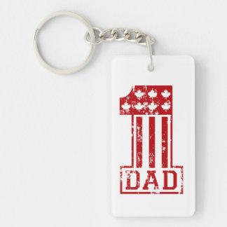 No. 1 Dad Canada Keychain