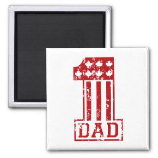No. 1 Dad Canada Magnet