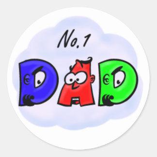 No. 1 Dad Classic Round Sticker