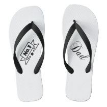 No.1 Dad Father's Day Flip Flops