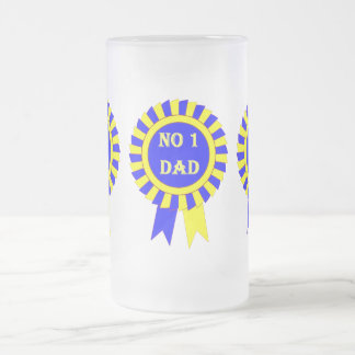 No 1 dad frosted glass beer mug