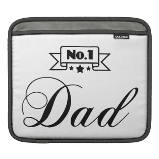 No.1 Dad - Happy Father's Day iPad Sleeve