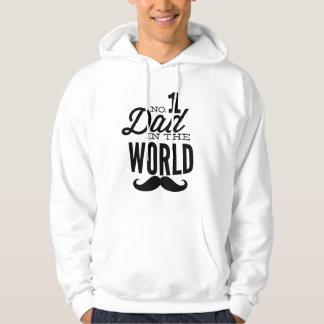 No. 1 Dad in the World Mustache Hooded Sweatshirt