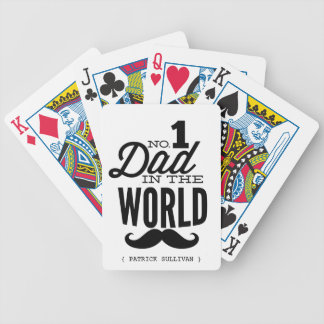 No.1 Dad in the World Mustache Playing Cards