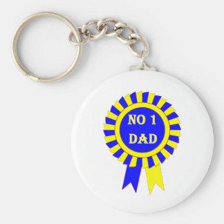 No 1 dad keychain