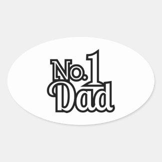 No.1 Dad Oval Sticker