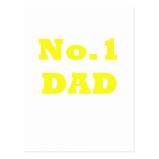 No.1 Dad Postcard