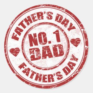 No.1 Dad stickers