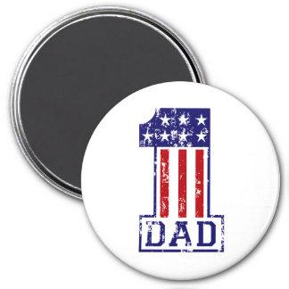 No. 1 Dad USA 3 Inch Round Magnet