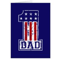 No. 1 Dad USA Card