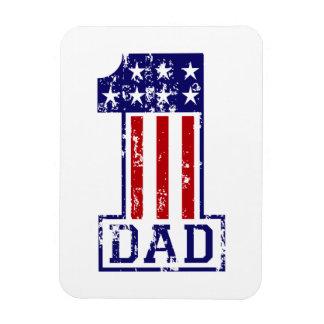 No. 1 Dad USA Rectangular Photo Magnet