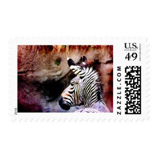 No. 1 de la cebra timbre postal