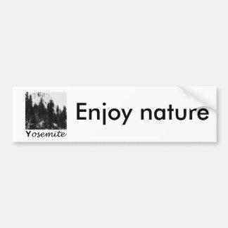 No. 1 de Yosemite blanco y negro Pegatina Para Auto