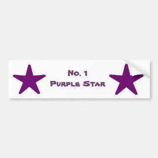 No. 1 Deep Purple Star Bumper Stickers