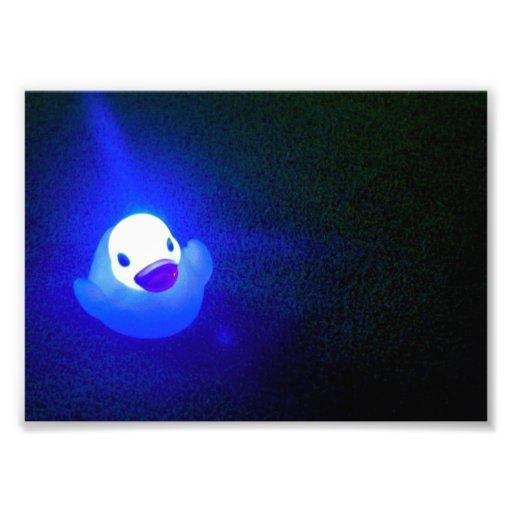 No. 1 del azulado LED Duckie Arte Fotografico