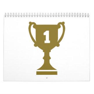 No. 1 del campeón calendario de pared