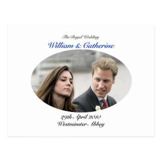 No.1 el Guillermo y la Catherine que se casan Tarjetas Postales