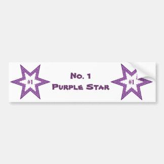 No. 1 estrella púrpura etiqueta de parachoque