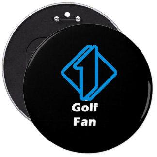 No.1 Golf Fan Pinback Button