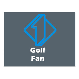 No.1 Golf Fan Postcard