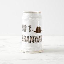 NO 1 Grandad With Cowboy Hat Beer Stein