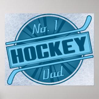 No. 1 Hockey Dad Poster