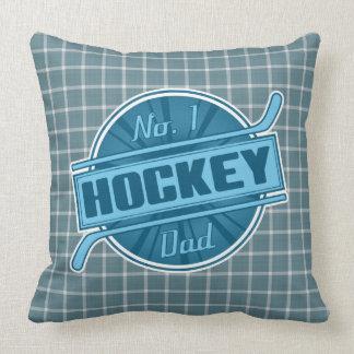 No.1 Hockey Dad Throw Pillow