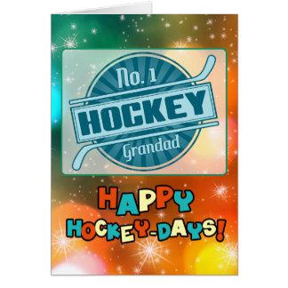 No 1 Hockey Grandad Christmas Card