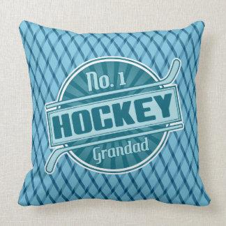 No.1 Hockey Grandad Throw Pillow