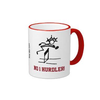No 1 Hurdler Red Ringer Coffee Mug