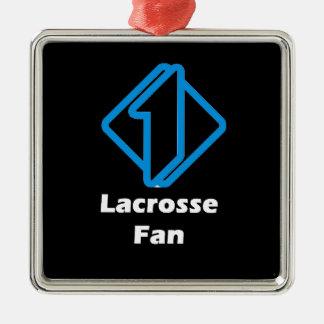 No.1 Lacrosse Fan Metal Ornament