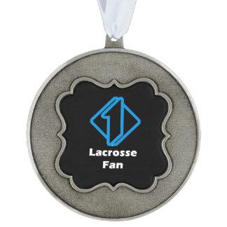 No.1 Lacrosse Fan Pewter Ornament