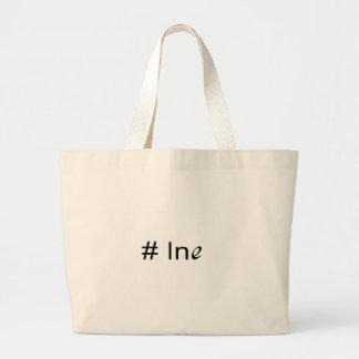 No 1 ln e _ text large tote bag