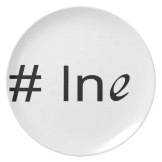 No 1 ln e _ text melamine plate