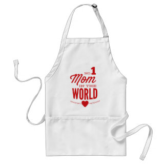 No 1 Mom In The World Adult Apron