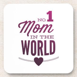 No 1 Mom In The World Beverage Coaster