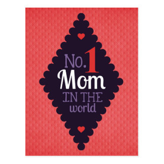 No.1 mom in the world postcard