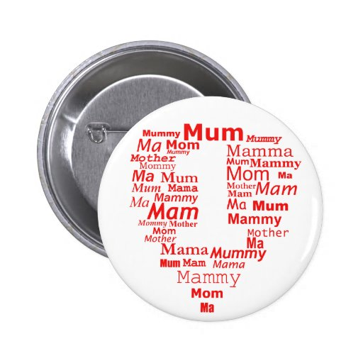 no 1 mother badge pinback button