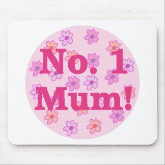 No. 1 Mum Flower Design Mousepad