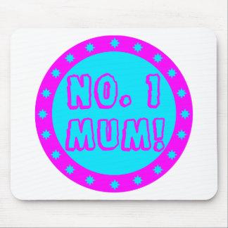 No. 1 Mum Pink & Blue Mousepad