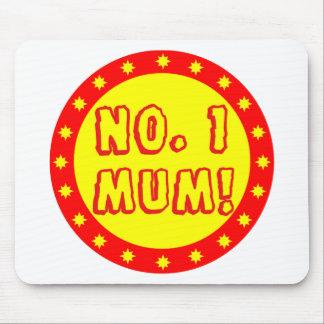 No. 1 Mum Red & Yellow Mousepad