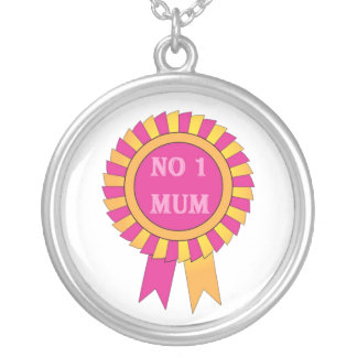 No 1 mum silver plated necklace