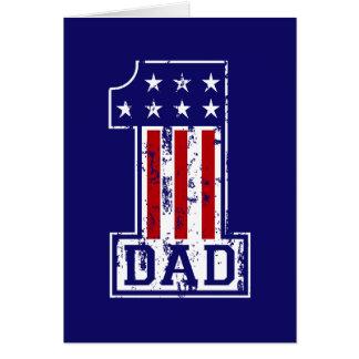 No. 1 papá los E.E.U.U. Felicitacion