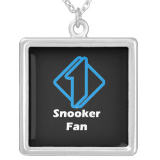 No.1 Snooker Fan Silver Plated Necklace