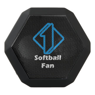 No.1 Softball Fan Black Bluetooth Speaker