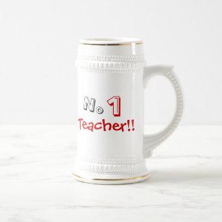 No 1 Teacher Joke Mug! Beer Stein