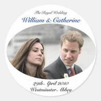 No.1 The Royal Wedding William & Catherine Round Sticker